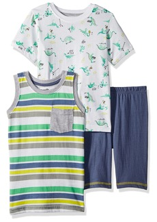 Nannette Boys' Little 3 Piece tee and Tanks Short Set