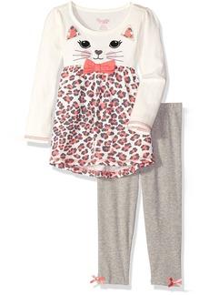 Nannette Little Girls' Toddler 2 Piece Cat Legging Set