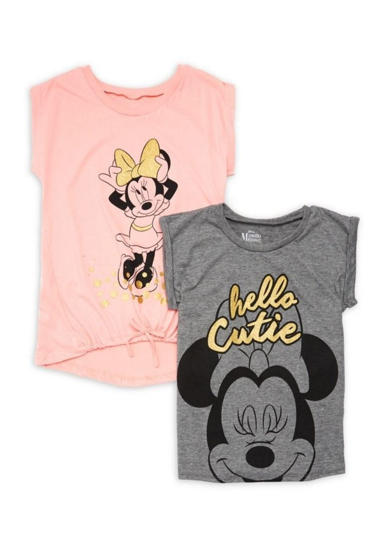 efbceafede7dd Nannette Nannette Girl's Set of Two Minnie Mouse Graphic Cotton Tops ...
