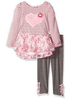 Nannette Girls' Toddler 2 Piece Dressy Top and Legging Set