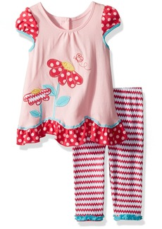 Nannette Girls' Toddler 2 Piece Playwear Legging Set