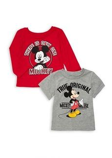 Nannette Little Boy's Two-Pack Mickey Jersey Tees