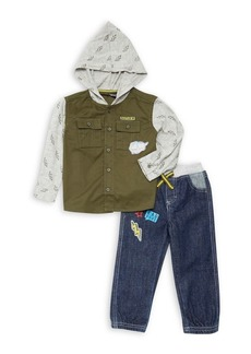 Nannette Little Boy's Two-Piece Hoodie & Pants Set