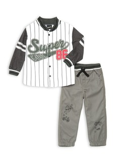 Nannette Little Boy's Two-Piece Super Jacket & Pants Set