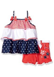 Nannette Little Girls' 2 Piece Americana Short Set