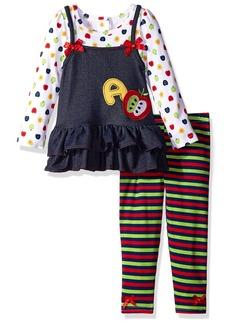 Nannette Little Girls' 2 Piece Apple Legging Set