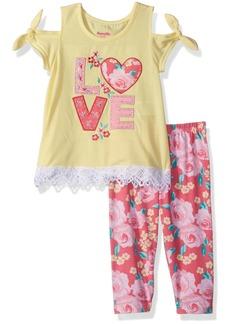 Nannette Little Girls' 2 Piece Cute Saying Legging Set