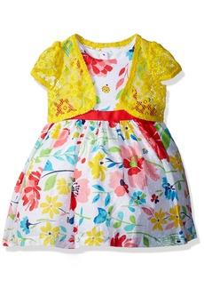 Nannette Little Girls' 2 Piece Floral Dress with Shrug