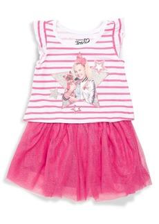 Nannette Little Girl's 2-Piece JoJo Stripe Tee & Tutu Skirt Set
