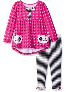 Nannette Little Girls' 2 Piece Kitten Legging Set