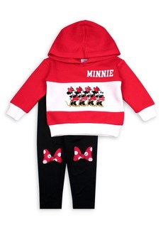 Nannette Little Girl's 2-Piece Minnie Mouse Bow Hoodie & Leggings Set