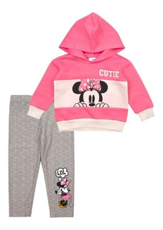 Nannette Little Girl's 2-Piece Minnie Mouse Cutie Hoodie & Leggings Set