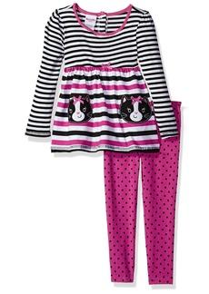 Nannette Little Girls 2 Piece Playwear Long Sleeve Top and Legging Set