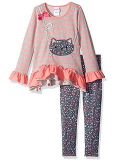 Nannette Little Girls' 2 Piece Playwear Long Sleeve Top and Legging Set