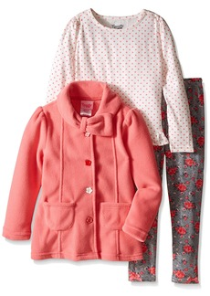 Nannette Little Girls' 3 Piece Jacket Set WTH Long Sleeve Shirt and Legging