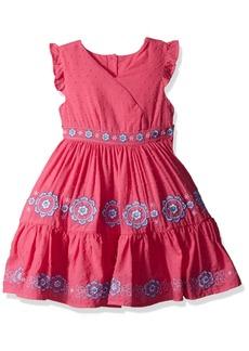Nannette Little Girls' Boho Embroidered Clip Dot Dress