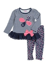 Nannette Little Girl's Butterfly Tunic and Leggings Set
