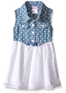 Nannette Little Girls Chambray Top and Chiffon Skirt