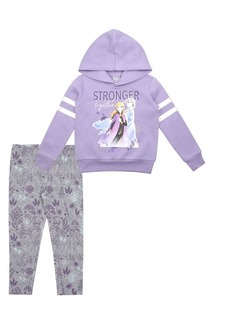 Nannette Little Girl's Frozen 2 Elsa & Anna 2-Piece Hoodie & Legging Set
