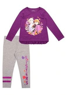 Nannette Little Girl's Frozen 2 Elsa & Anna Top & Pants Set