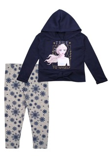 Nannette Little Girls Frozen 2 Elsa 2-Piece Hoodie & Leggings Set