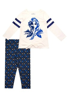 Nannette Little Girl's Frozen 2 Elsa 2-Piece Top & Leggings Set