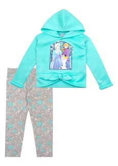 Nannette Little Girl's Frozen 2 Elsa, Anna, & Olaf 2-Piece Hoodie & Leggings Set