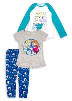 Nannette Little Girl's Frozen Let It Go 3-Piece Printed Tops & Leggings Set