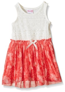 Nannette Little Girls' Toddler Lace Bodice with Chiffon Skirt