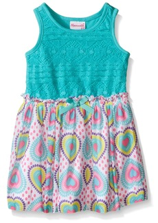 Nannette Little Girls' Toddler Lace Bodice with Heart Chiffon Skirt
