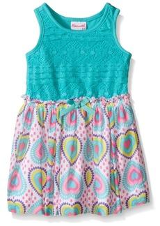 Nannette Little Girls Lace Bodice with Heart Chiffon Skirt