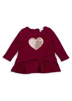 Nannette Little Girl's Quilted Sequined Heart Top