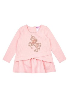 Nannette Little Girl's Quilted Sequined Unicorn Top