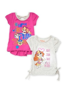Nannette Little Girl's Set of Two Paw Patrol Graphic Cotton Tops