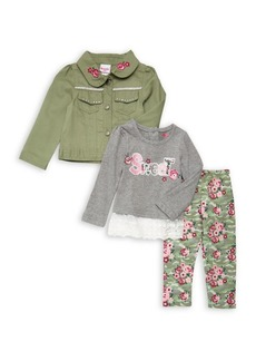 Nannette Little Girl's Three-Piece Floral Set