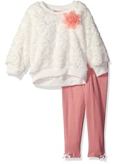 Nannette Little Girls' Toddler 2 Piece Embossed Faux Fur Legging Set
