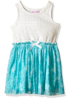 Nannette Little Girls' Toddler Lace Bodice with Butterfly Chiffon Skirt