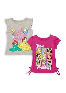 Nannette Little Girl's Two-Piece Disney Princesses Tees Set