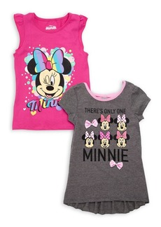 Nannette Little Girl's Two-Piece Minnie Mouse Tees Set
