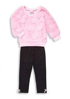Nannette Little Girl's Two Piece Faux Fur Top & Legging Set