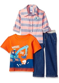Nannette Toddler Boys' 3 Piece Woven Shirt and Pant Set