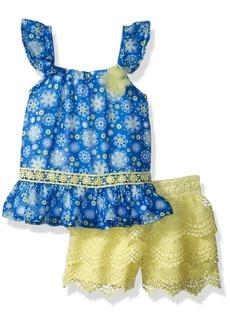 Nannette Toddler Girls' 2 Piece Crochet Short Set
