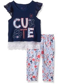 Nannette Toddler Girls' 2 Piece Cute Saying Legging Set