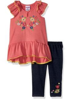 Nannette Girls' Toddler 2 Piece Gauze top and Capri Set