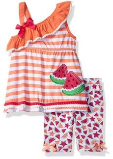 Nannette Toddler Girls' 2 Piece Playwear Bike Short Set