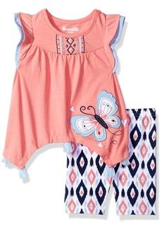 Nannette Girls' Toddler 2 Piece Playwear Bike Short Set