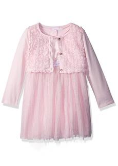 Nannette Toddler Girls' 3 Piece Shrug and Mesh Dress Set