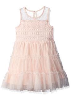 Nannette Girls' Toddler 3 Tier lace mesh Dress