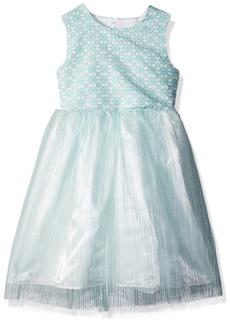 Nannette Toddler Girls' Brocade Mesh Dress