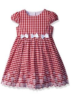 Nannette Girls' Toddler Empire Waist Dress red